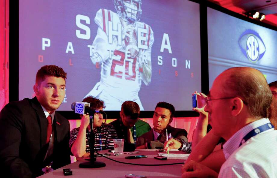 """BEST QUOTES FROM SEC MEDIA DAYSMississippi sophomore Shea Patterson on a couple of his quarterbacking role models:""""I tend to watch guys like Johnny (Manziel) and Aaron Rodgers. I watch them on YouTube. You find yourself doing the same things, the same stuff they do without even trying to do it. It's definitely an advantage to have that ability to extend plays."""" Photo: Butch Dill, Associated Press / Associated Press"""