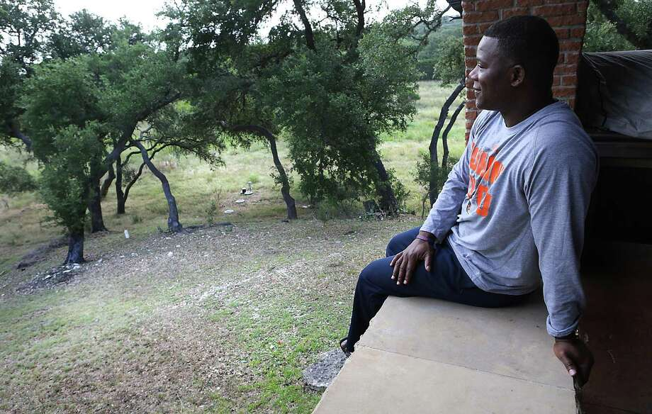 """Frank Wilson and his family live on eight acres in Boerne. """"We're kind of in our own little world out here, secluded, which is the way I like it,"""" he said. Photo: Bob Owen / San Antonio Express-News / ©2017 San Antonio Express-News"""