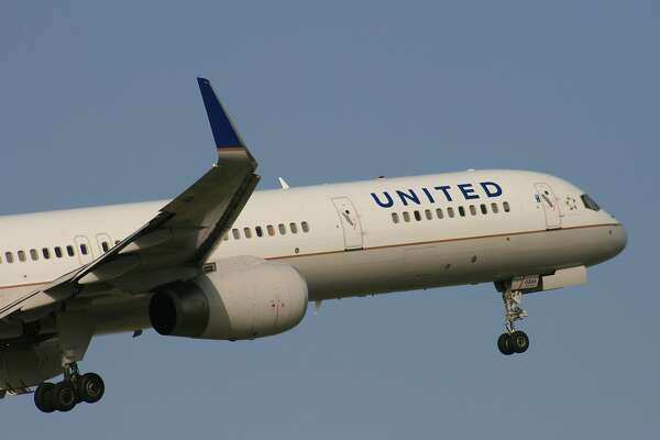 A United Airlines Boeing 757 takes off from Bush Intercontinental Airport in July 2017.