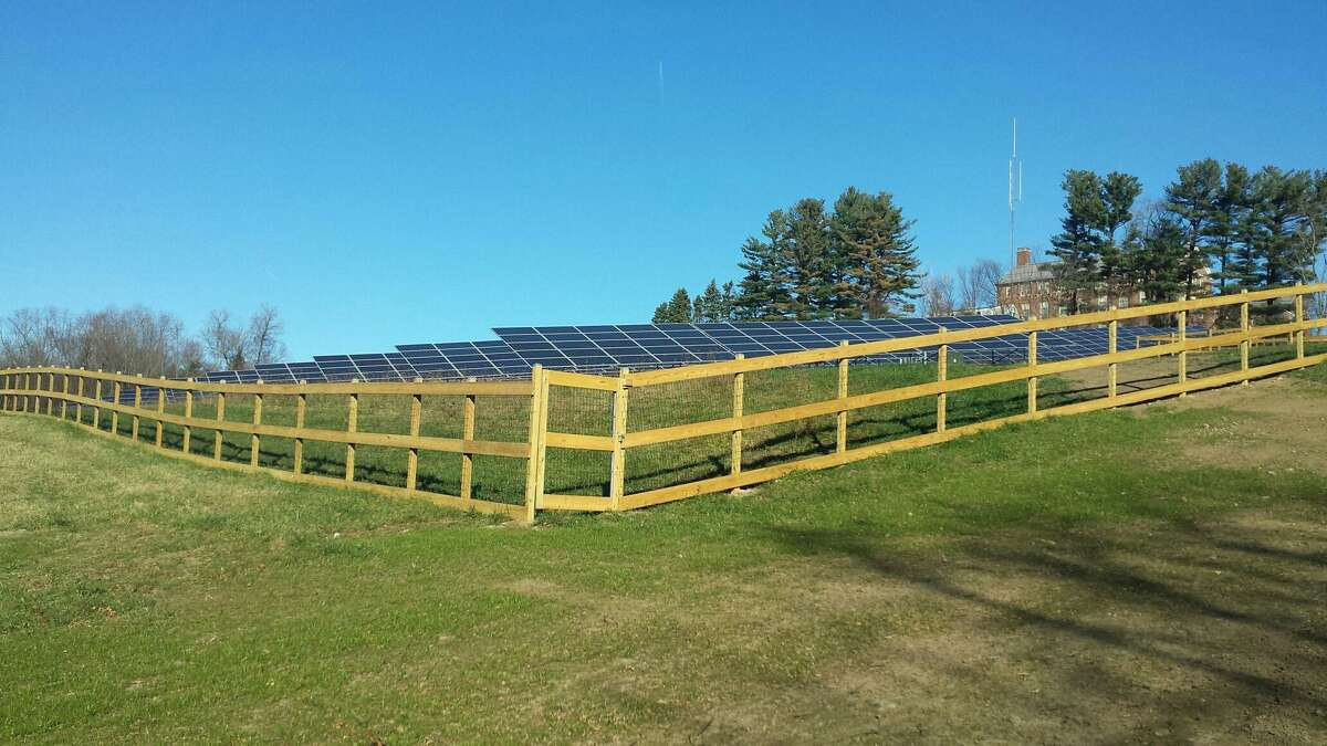A solar panel array similar to this one could be installed on 70 acres on Candlewood Mountain if approved by the Connecticut Siting Council.