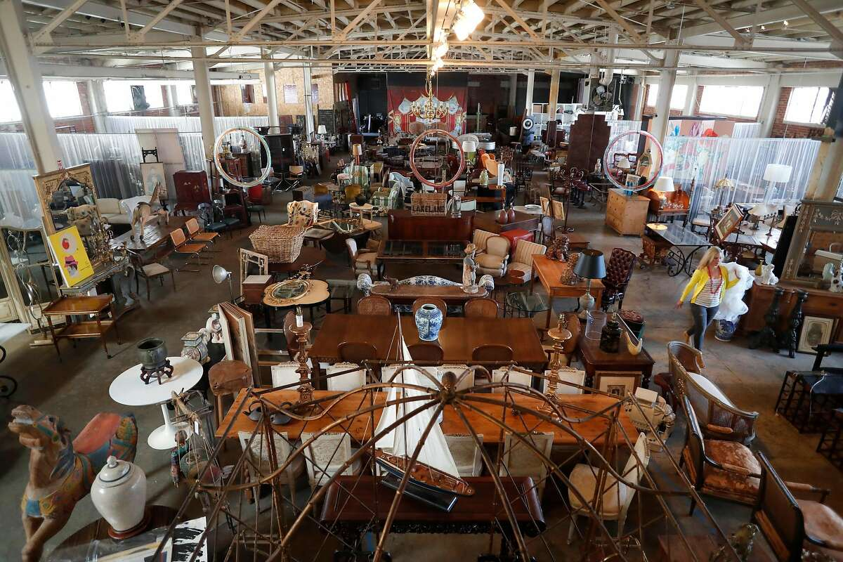 Erin Lane of Erin Lane Estates runs the online vintage furniture marketplace Chairish, out of their warehouse in Oakland, Ca., as seen on Thursday July 13, 2017.