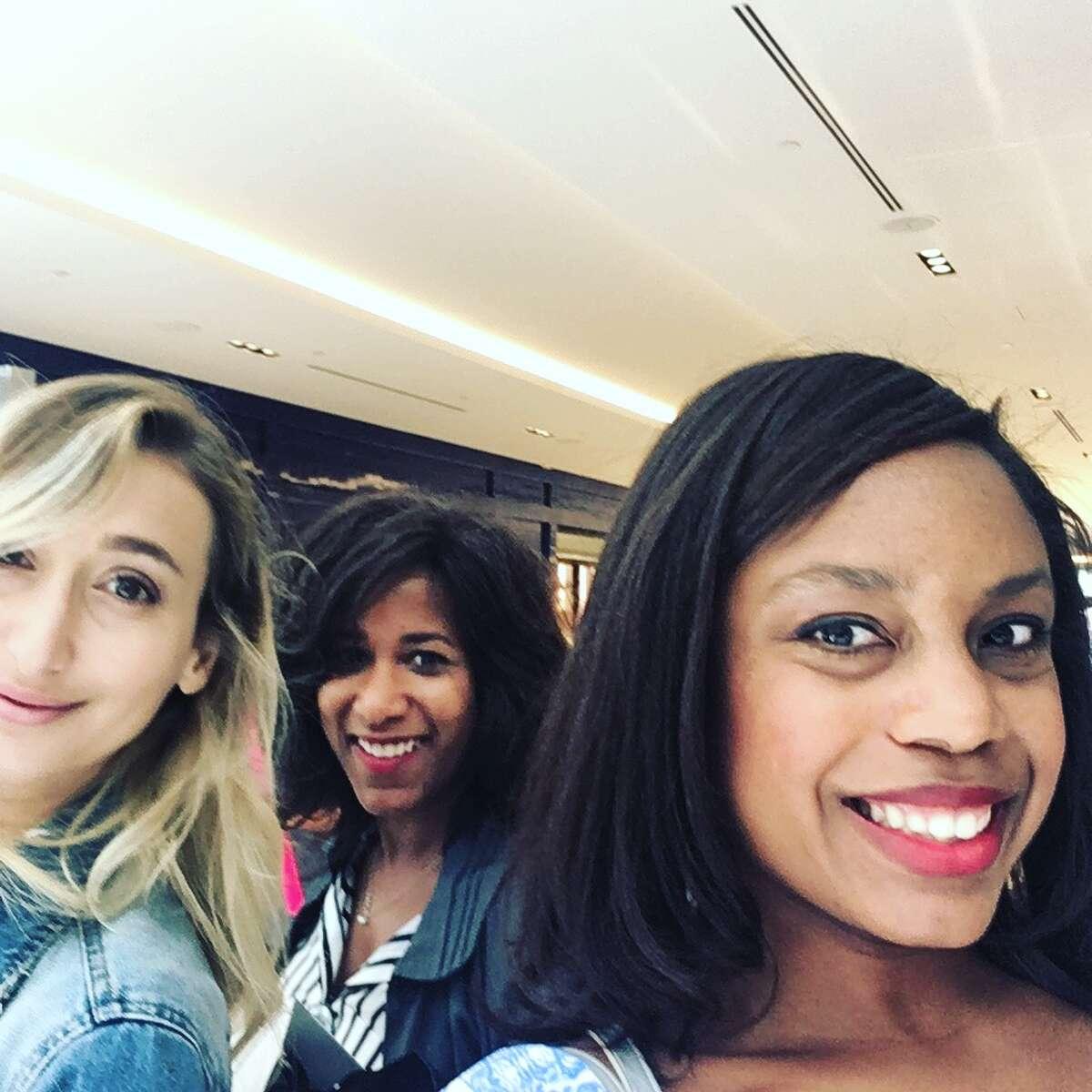 "Chiara Casiraghi-Brody, Joy Sewing, and Amber Elliott inside the Galleria VI's ""Influencer"" brunch"