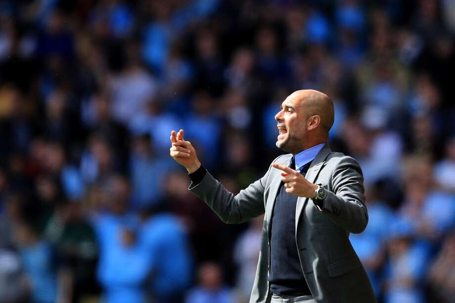 New Manchester City field manager Pep Guardiola might be a bona  fide soccer genius. Photo: Richard Heathcote / Getty Images