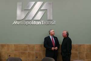 Texas House Select Committee on Redistricting Chairman Rep. Drew Darby (left) talks with Rep. Todd Hunter, R-Corpus Christi, before convening a 2013 field hearing at the VIA Metro Center. During Friday testimony at the redistricting trial being held in San Antonio, Darby was advised not to tell the court about his thought process in how he directed the redistricting process in the House chamber or public hearings around the state.