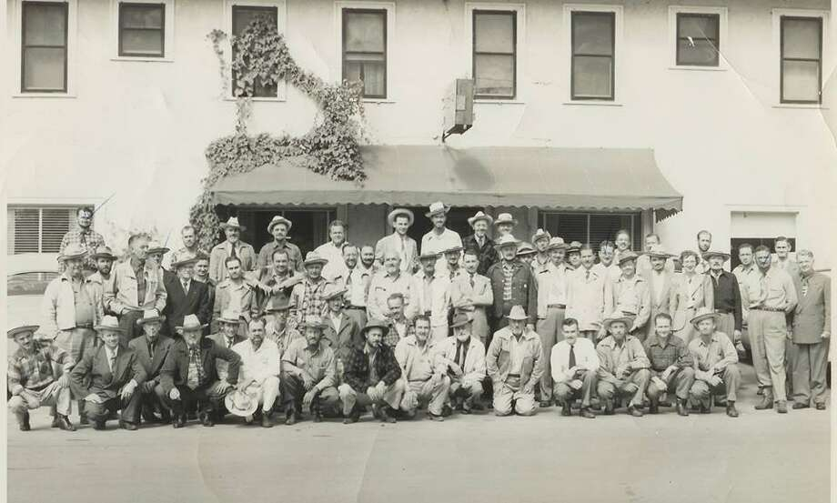 A photo of the Conroe Noon Lions Club members circa 1950 when they met at the Birch Hotel in Conroe. The club received its charter on March 7, 1939 and is going strong in Conroe 78 years later with 307 members.