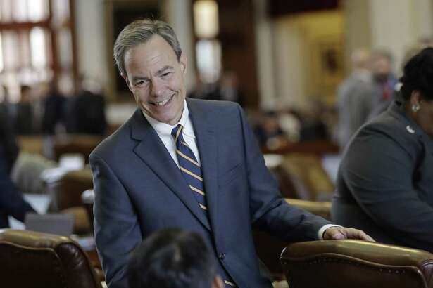 Texas Speaker of the House Joe Straus, R-San Antonio, talks with fellow lawmakers on the House floor April 19 at the Texas Capitol in Austin. The speaker fills a void of real leadership in Texas.