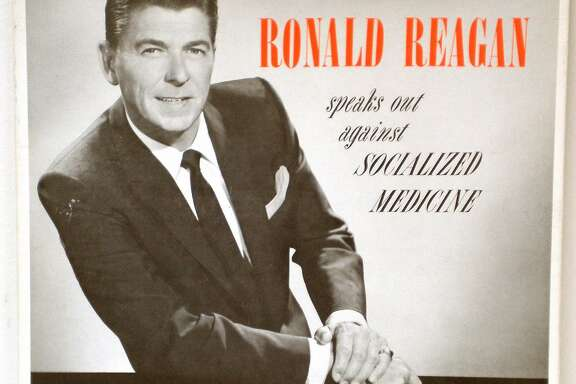 Ronald Reagan graced the cover of a recording he made for the American Medical Association in 1961 where he spoke out against the passage of Medicare.