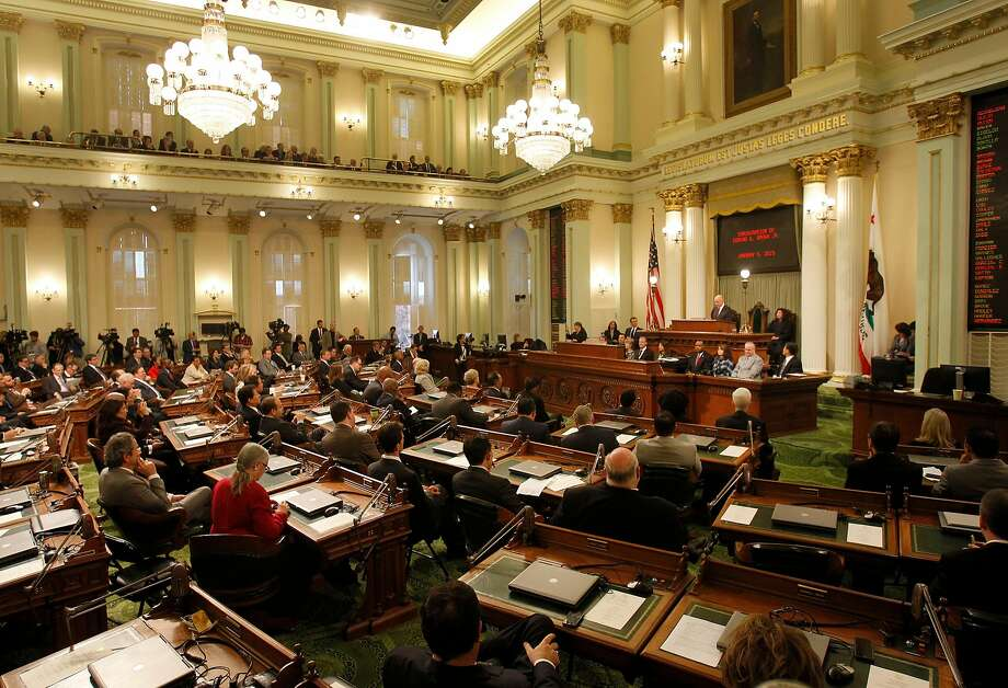 The California Legislature listens to Gov. Jerry Brown. Legislators have to make important choices on bills this month. Photo: Brant Ward, The Chronicle