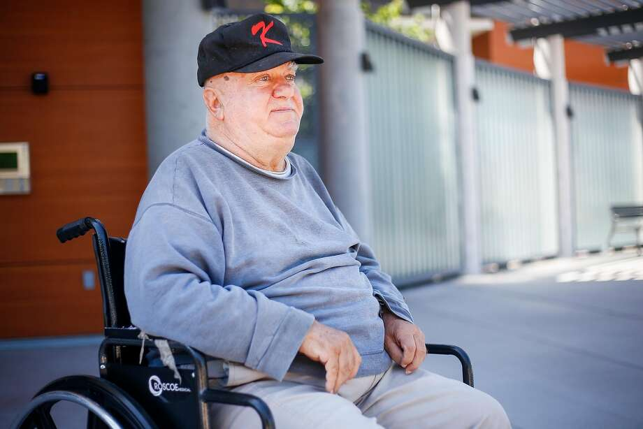 Harry Kourian , 75, sits for a portrait outside the MidPen Housing, new affordable housing development, at Alma Point in Foster City on Saturday, July 1, 2017. Photo: Nicole Boliaux, The Chronicle