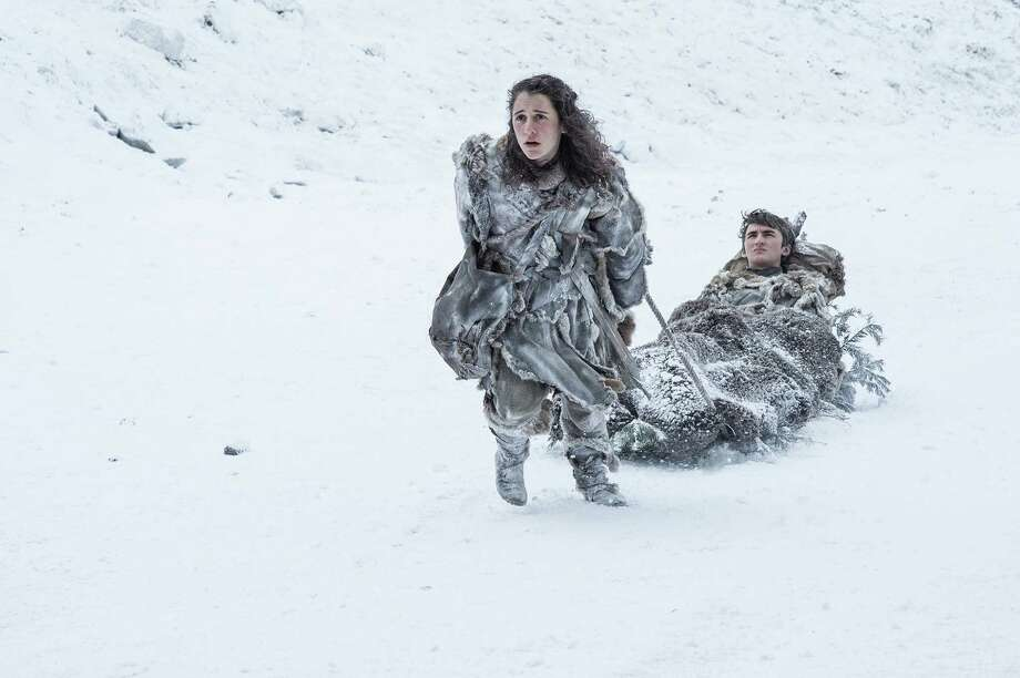 "Ellie Kendrick, Isaac Hempstead Wright in a scene from season 7 of ""Game of Thrones.""Keep going to see how fans reacted online to the ""Game of Thrones"" premiere.  Photo: Helen Sloan/courtesy Of HBO"