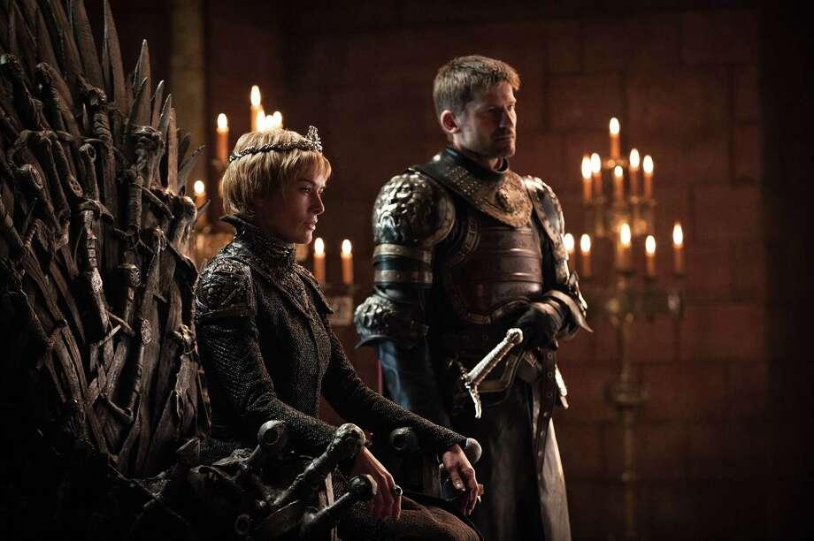 "Lena Headey, Nikolaj Coster-Waldau, in a scene from Season 7 of ""Game of Thrones."" Photo: Helen Sloan/courtesy Of HBO"