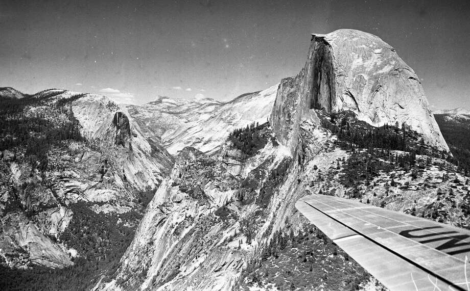 Chronicle photographer Barney Peterson hitched a ride on a United Airlines Mainliner in the summer of 1948 and captured stunning shots that included Half Dome in Yosemite National Park. Photo: Barney Peterson / The Chronicle / ONLINE_YES