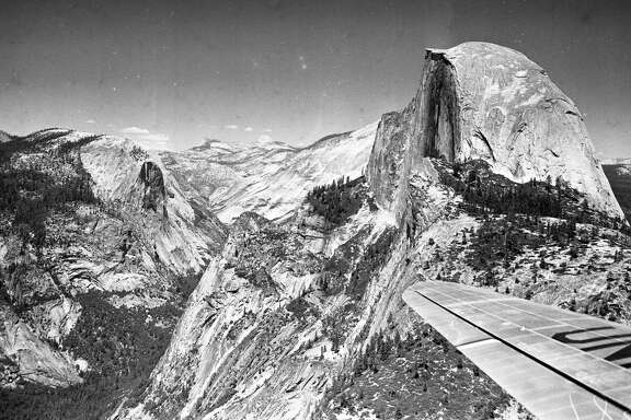 Chronicle photographer Barney Peterson hitched a ride on a United Airlines Mainliner in the summer of 1948 and captured stunning shots that included Half Dome in Yosemite National Park.
