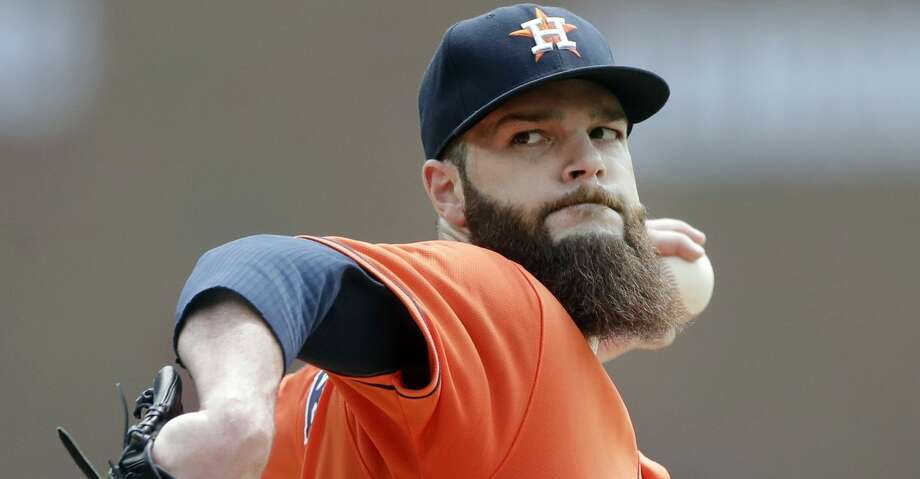 FILE - In this July 31, 2016, file photo, Houston Astros starting pitcher Dallas Keuchel throws during the first inning of a baseball game against the Detroit Tigers in Detroit. The Astros are confident their offense will be powerful enough to contend for a title. The question is if a rotation led by 2015 AL Cy Young winner Dallas Keuchel can bounce back a year after injuries and inconsistency kept the team from reaching the postseason.  (AP Photo/Carlos Osorio, File) Photo: Carlos Osorio/Associated Press