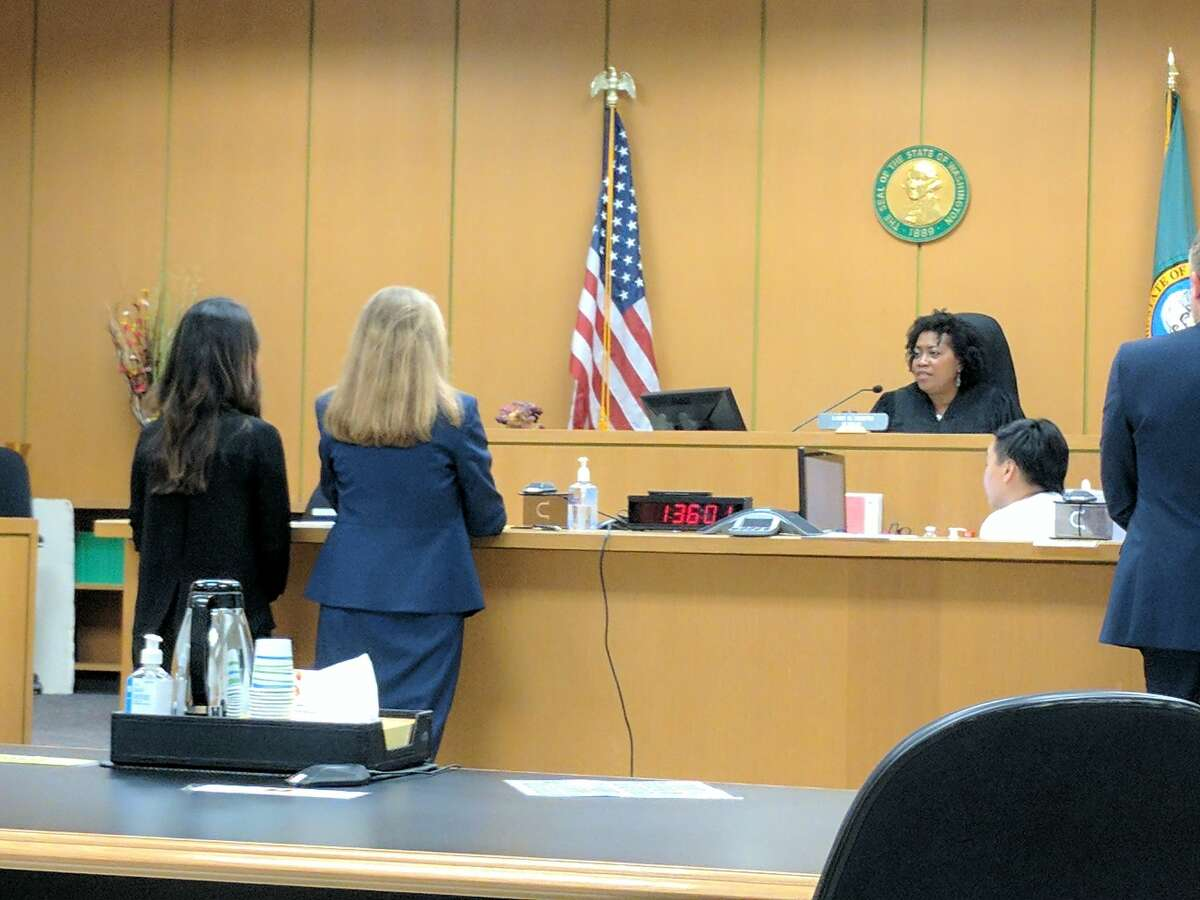 A 26-year-old Olympia woman, left, was sentenced to one month of work release and two months of electronic home monitoring after pleading guilty to extorting online dates for more than $300,000.