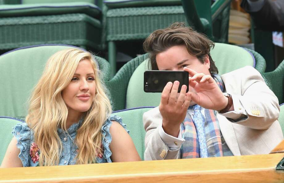 LONDON, ENGLAND - JULY 11:  Ellie Goulding (L) and a guest pose for a selfie on day eight of the Wimbledon Tennis Championships at the All England Lawn Tennis and Croquet Club on July 11, 2017 in London, United Kingdom.  (Photo by Karwai Tang/WireImage) Photo: Karwai Tang/WireImage