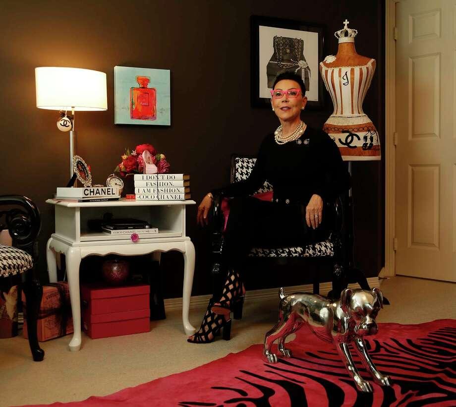 Jan Hargrave's Chanel-inspired office fits her classic Audrey Hepburn-meets-Marilyn Monroe style. Photo: Karen Warren, Staff Photographer / 2017 Houston Chronicle