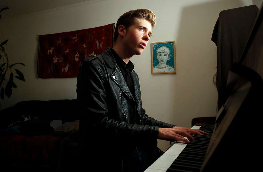 18-year-old, singer songwriter Joshua Tazman at his home in San Francisco. Photo: Michael Macor, The Chronicle