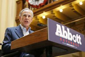 Texas Gov. Greg Abbott announces his bid for re-election Friday July 14, 2017 at Sunset Station.