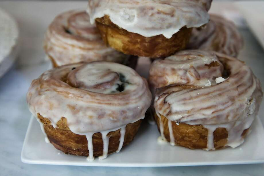 A glazed bun at Reveille Coffee on Fourth Street in Mission Bay. Photo: Gabrielle Lurie, The Chronicle