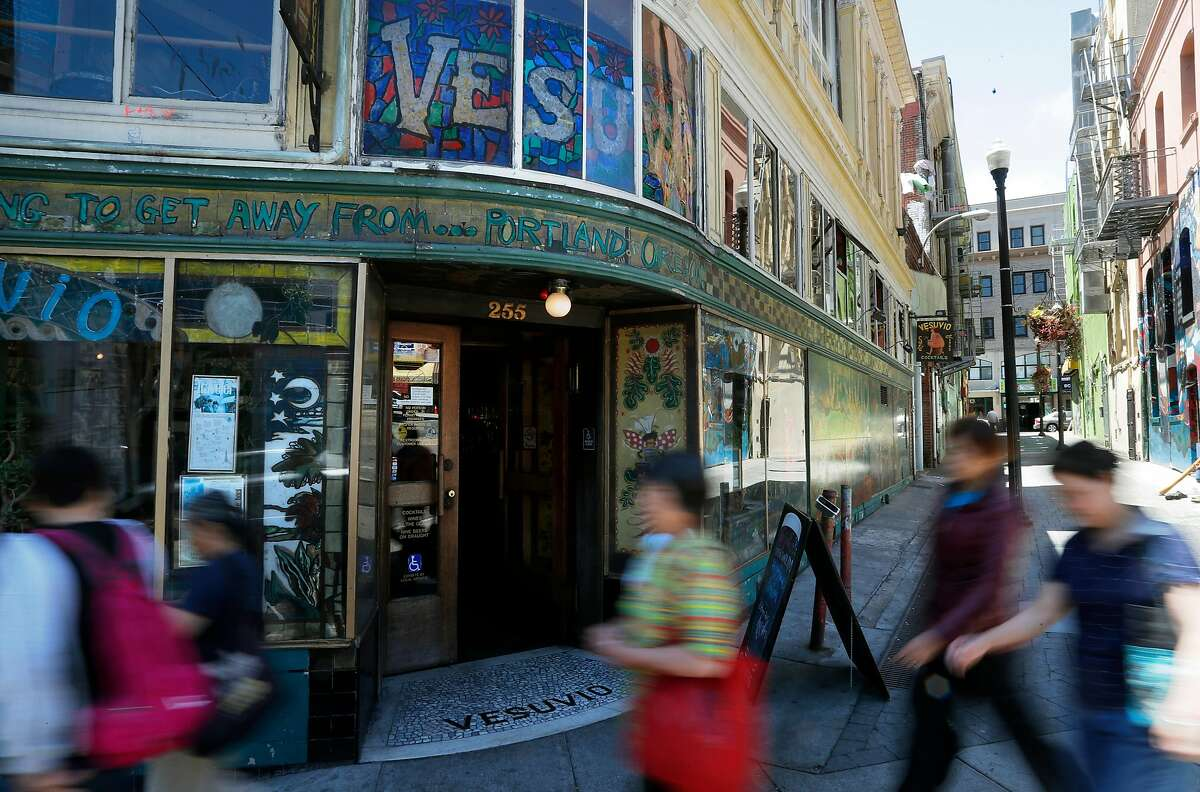 Vesuvio bar along Columbus st. in San Francisco, Ca., as seen on Thursday July 13, 2017.