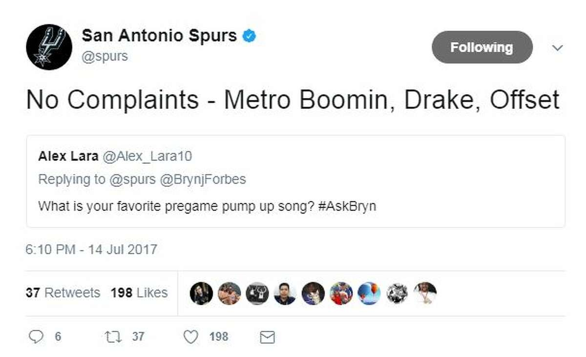 No Complaints - Metro Boomin, Drake, Offset What is your favorite pregame pump up song? #AskBryn
