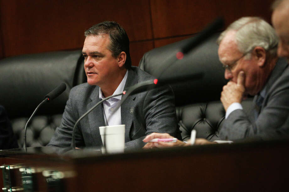 Conroe City Councilman Duane Ham speaks during the city council meeting on Monday, Feb. 6, 2017, at Conroe City Hall. Photo: Michael Minasi, Staff Photographer / © 2017 Houston Chronicle