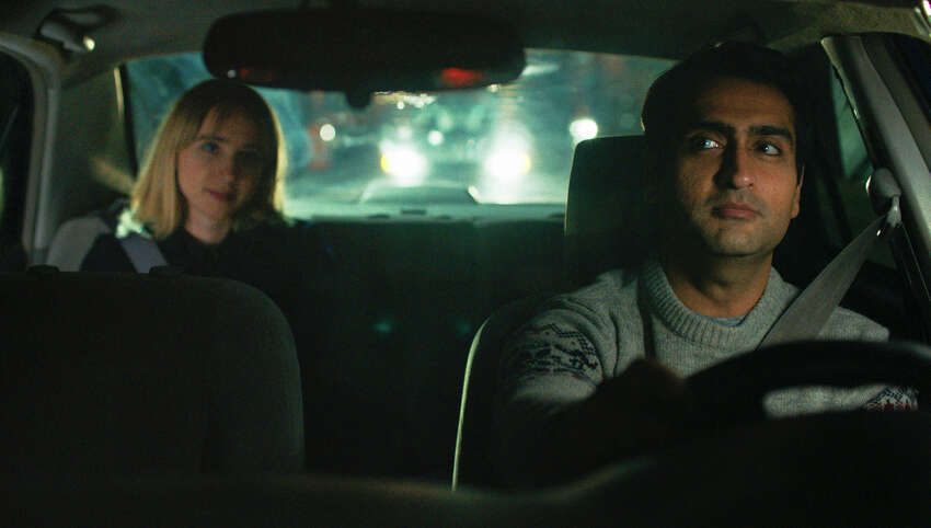 This image released by Lionsgate shows Kumail Nanjiani, right, and Zoe Kazan in a scene from,