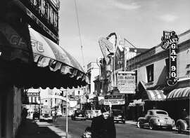 Pacific Avenue still had the flavor of the Barbary Coast in the 1930s, even though the district closed in 1917.