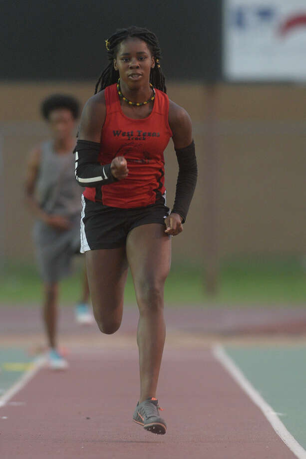 Sametria Smith runs up for a long jump attempt during the Texas Amateur Athletic Federation Region 10 track and field meet on July 4, 2017, at Memorial Stadium. James Durbin/Reporter-Telegram Photo: James Durbin