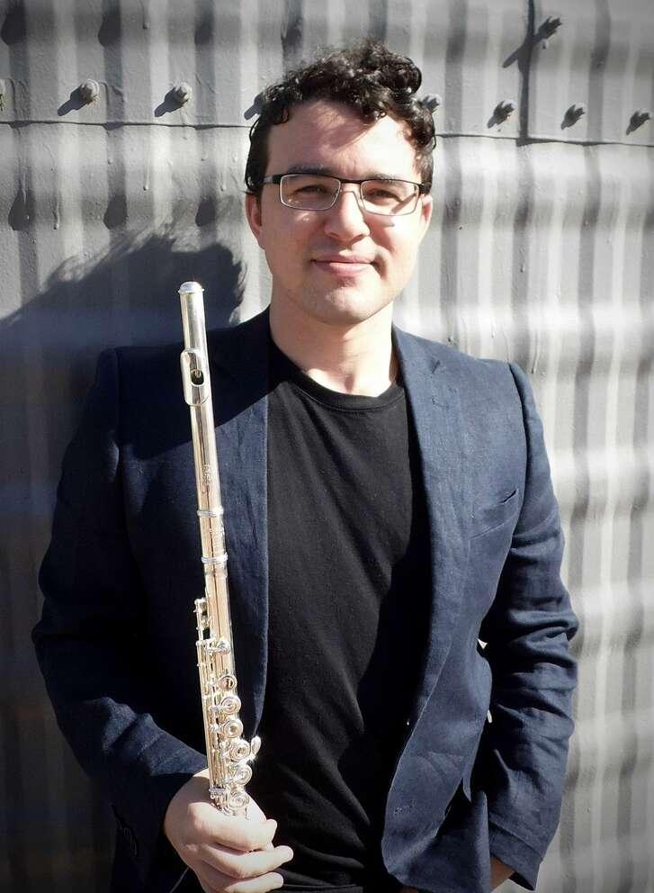 San Antonio Symphony principal flute Mark Teplitsky performed Saturday night during a Cactus Pear Music Festival concert.