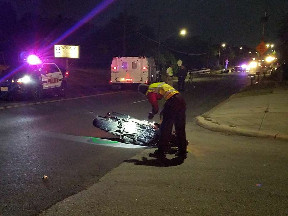 Two people riding on a motorcycle were sent to the hospital after the driver lost control and clipped a vehicle in the 2100 block of Pinn Road, Friday, July 14, 2017 according to the SAPD. Photo: Sergio Martínez-Beltrán