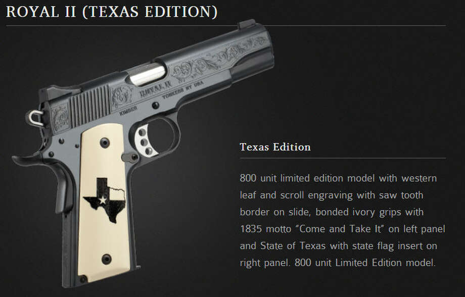 Royal II Texas Edition from KimberAmerica.comAlmost, but not quite, the most Texan gun we've ever seen.
