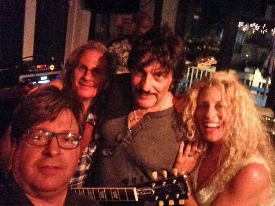 From left: Guitarist Rob Russo, guitarist Scott Hensley, drummer Carmine Appice and singer/musician Wendy May performed at The Black Duck Cafe in Westport on July 6. Photo: Contributed Photo