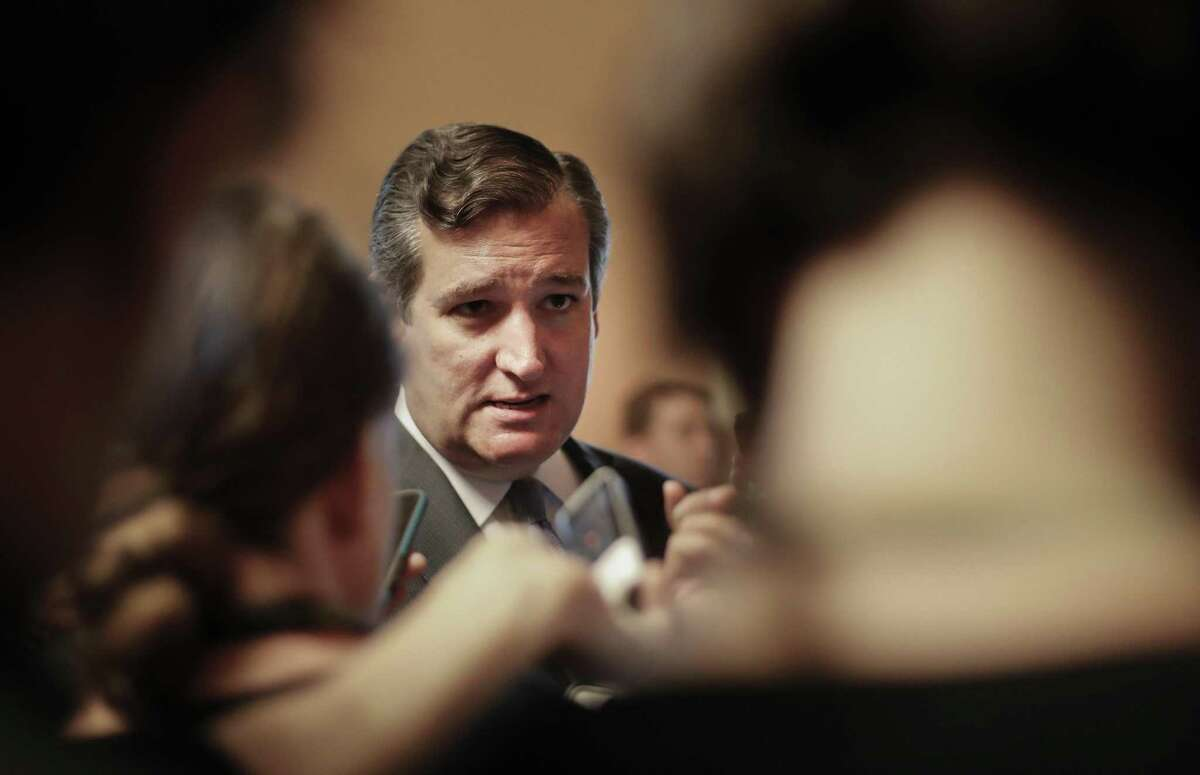 Sen. Ted Cruz, R-Texas speaks to members of the media on Capitol Hill in Washington Thursday, July 13, 2017. Senate Majority Leader Mitch McConnell of Ky. rolled out the GOP's revised health care bill, pushing toward a showdown vote next week with opposition within the Republican ranks. (AP Photo/Pablo Martinez Monsivais)