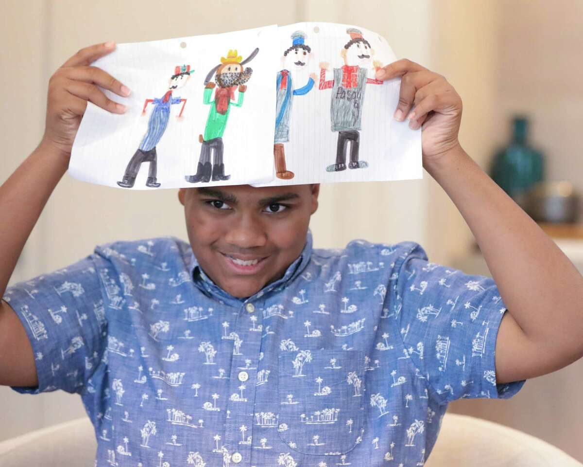A piece of jewelry indicating its wearer has autism could be crucial for children like Gabriel, who likes to draw.