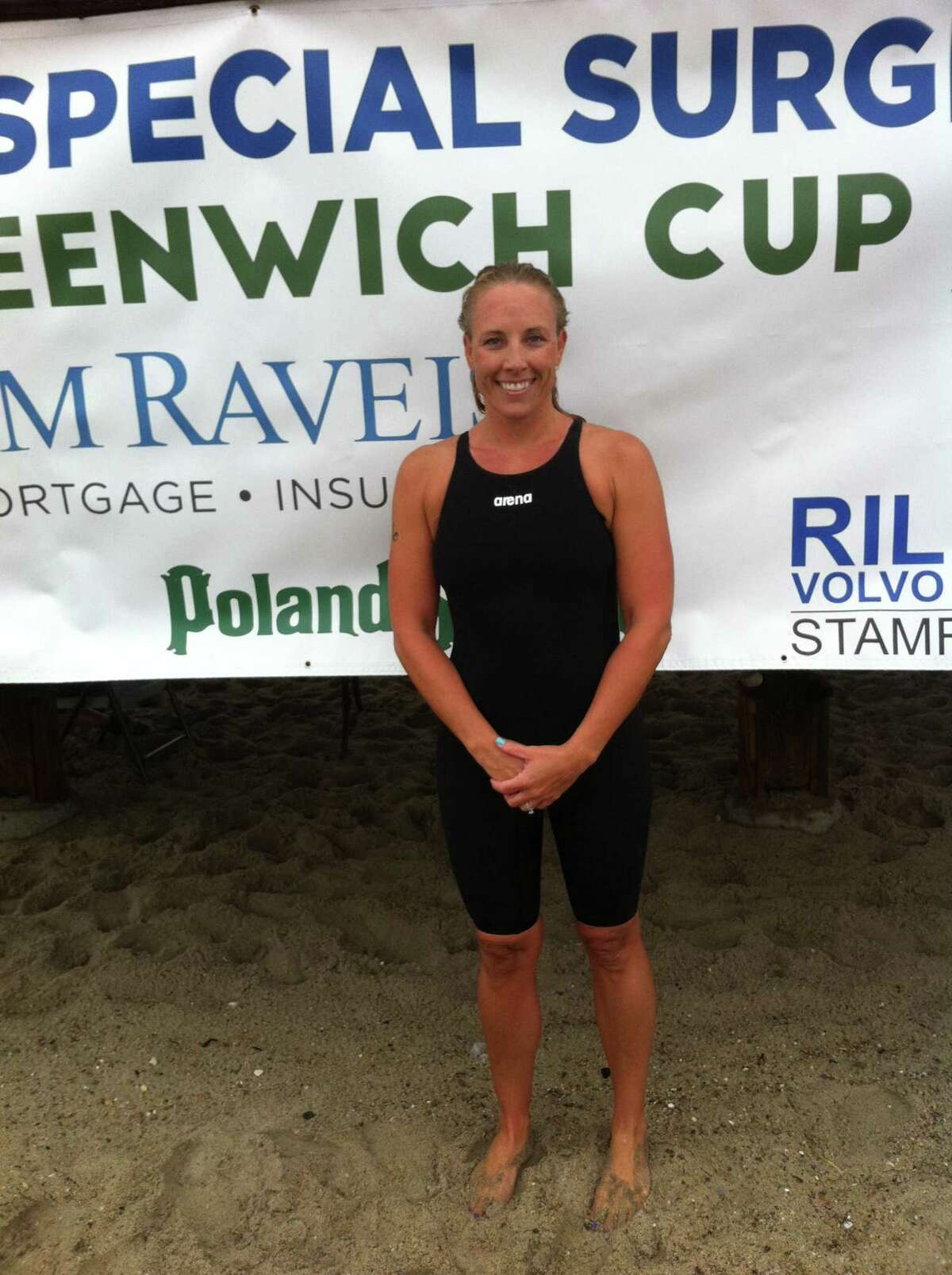Jessica Dowling of Greenwich was the woman?'s winner at the Greenwich Point One-Mile Swim Saturday at Greenwich Point. July 15, 2017.