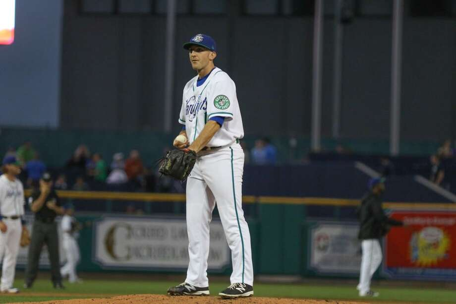 Guilford's Craig Schlitter made his home debut with the Hartford Yard Goats on Thursday night. Photo: Hartford Yard Goats / Contributed Photo / Stamford Advocate Contributed