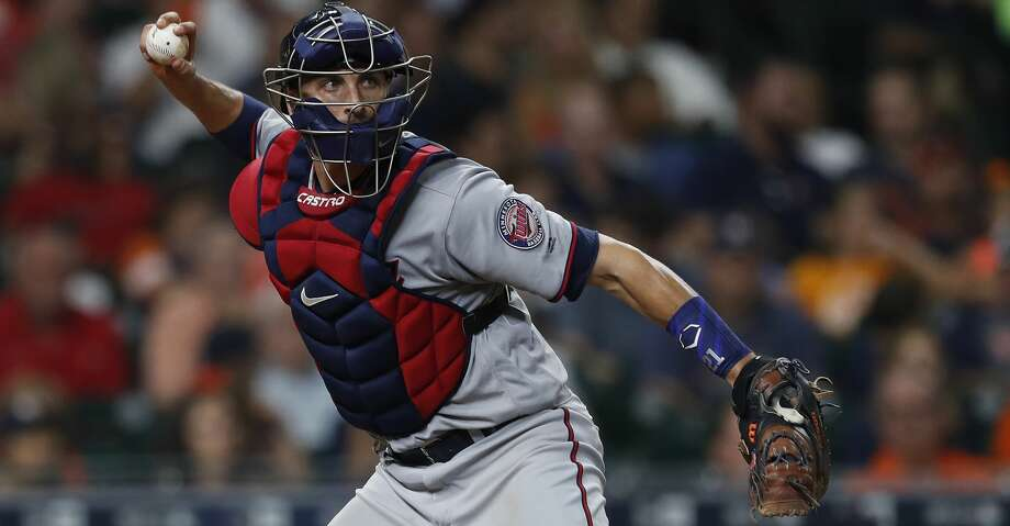 Catcher Jason Castro was with the Astros from 2010-16, leaving as a free agent to join the Twins on a three-year deal during the offseason. Photo: Karen Warren/Houston Chronicle