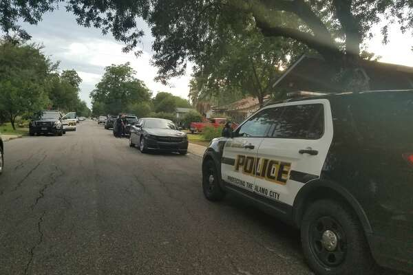 San Antonio police investigate a stabbing death on the North Side, Saturday July 15, 2017.