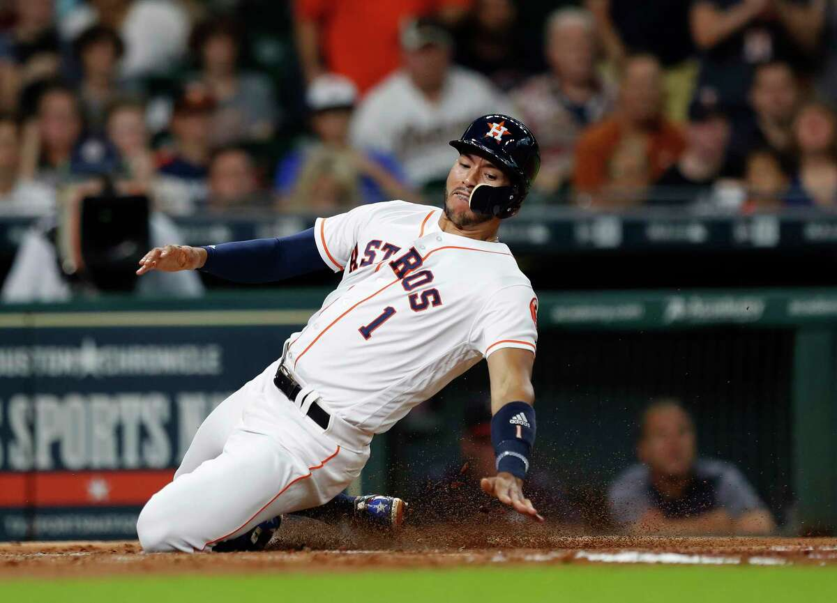 Astros shortstop Carlos Correa has lived up to the hype since he was selected No. 1 overall in the 2012 draft. He's now excelling at an All-Star level in his second full season in the majors.