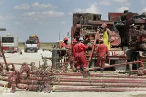 Noble Energy pump fracking activities Monday, June 26, 2017, in Pecos, TX. ( Steve Gonzales  / Houston Chronicle )