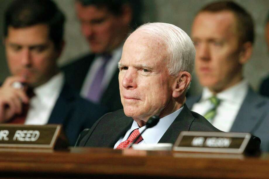 """Surgeons in Phoenix said they removed a blood clot from above the left eye of John McCain. Mayo Clinic Hospital doctors said Saturday, July 15 that McCain underwent a """"minimally invasive"""" procedure to remove the nearly 2-inch (5-centimeter) clot, and that the surgery went """"very well."""" They said the 80-year-old Republican is resting comfortably at his home in Arizona. Pathology reports are expected in the next several days.  (AP Photo/Jacquelyn Martin, File) Photo: Jacquelyn Martin / Copyright 2017 The Associated Press. All rights reserved."""