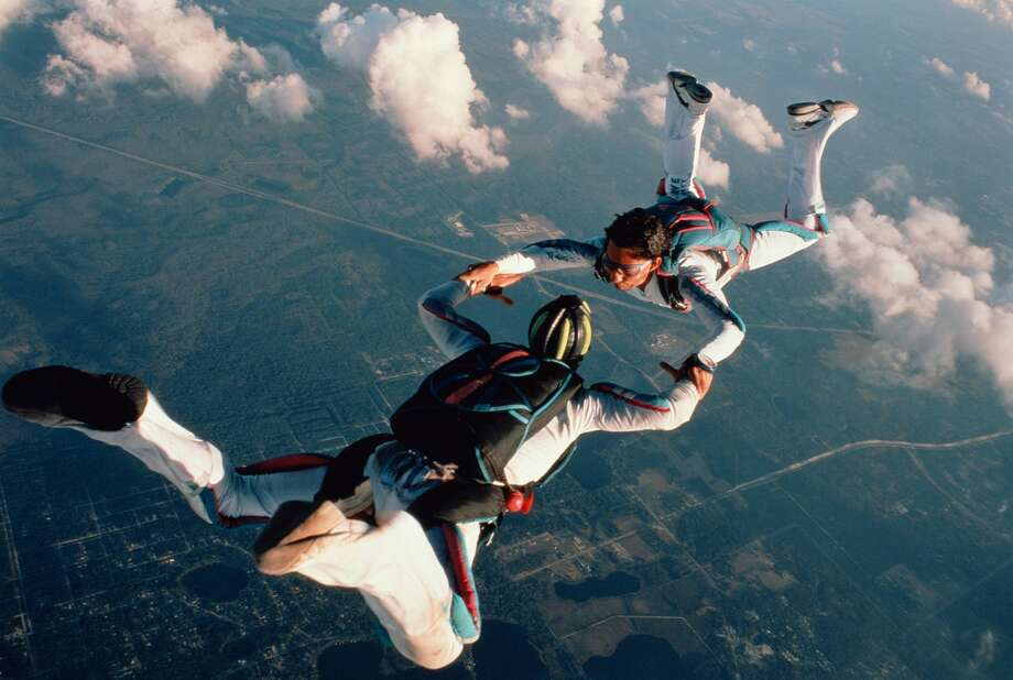 A file photo of two skydivers at Skydive DeLand in Florida.Capotorto Vitantonio's death was the fifth in four years at Skydive DeLand, one of the nation's busiest skydiving facilities, according to Time magazine. Photo: Brian Erler/Getty Images