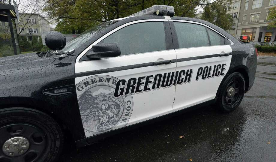 File photo of Greenwich police car on Thursday, Oct. 27, 2016. Photo: Matthew Brown / Hearst Connecticut Media / Stamford Advocate