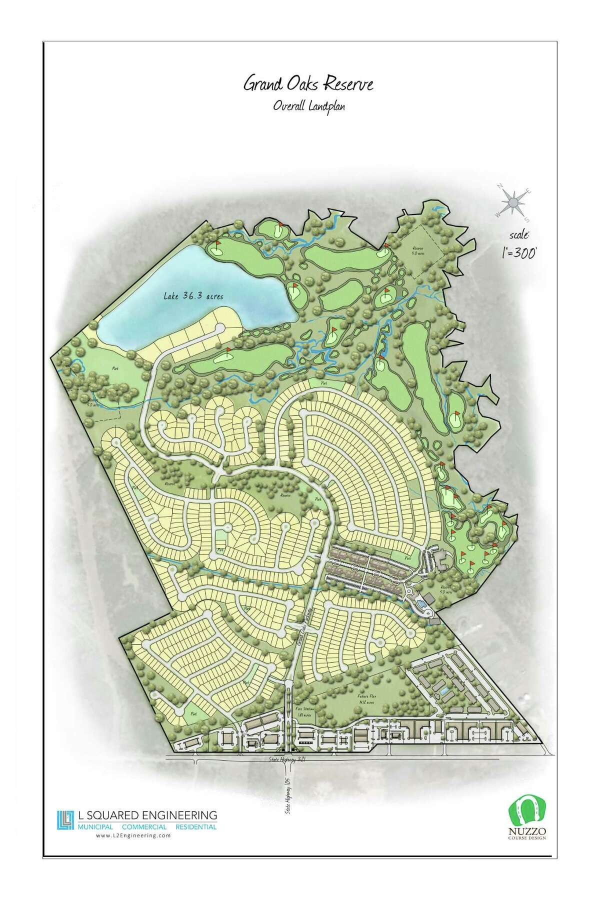 The artist's rendering of the layout of the new subdivision.