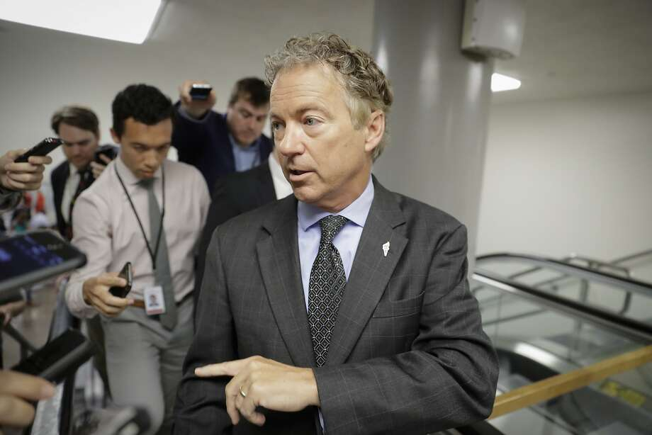 Sen. Rand Paul, R-Ky., says he believes Republican opposition will grow to the health measure. Photo: J. Scott Applewhite, Associated Press