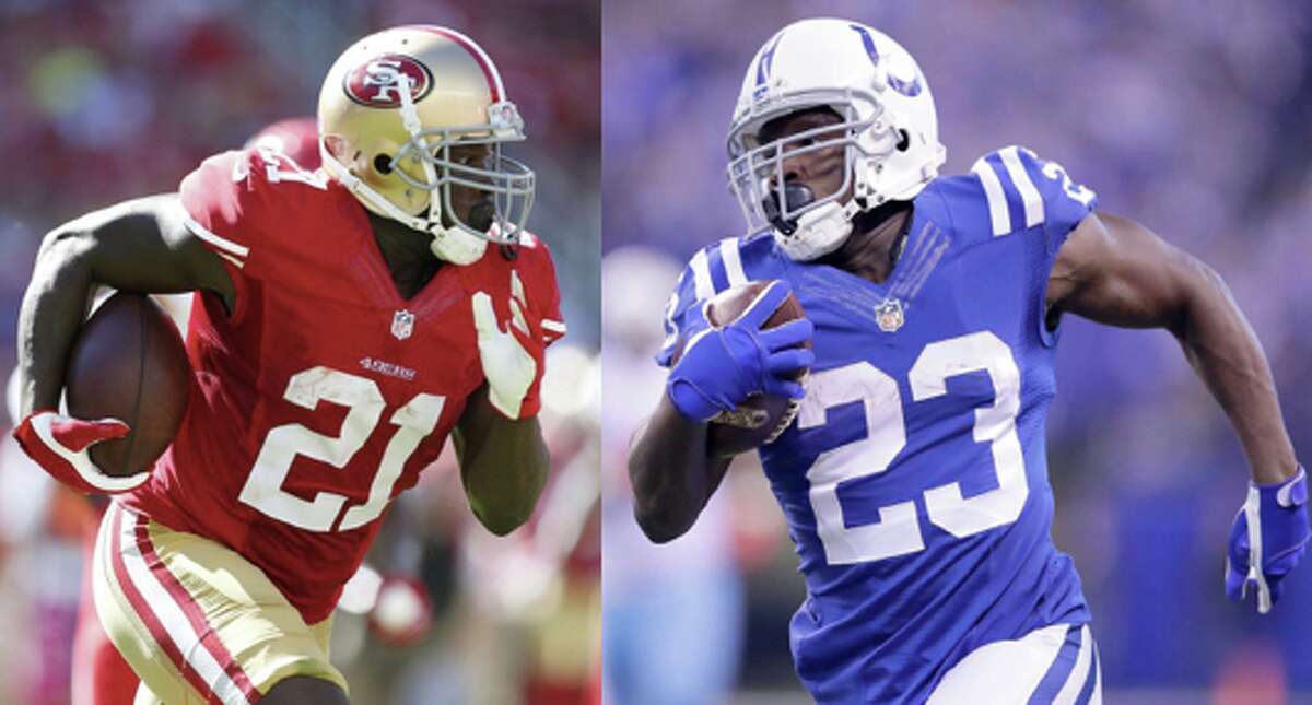 Frank Gore: Indianapolis Colts Gore currently resides in Indianapolis after leaving the 49ers at the conclusion of the 2014 season. The 34-year-old has yet to miss a game since the 2010 season.