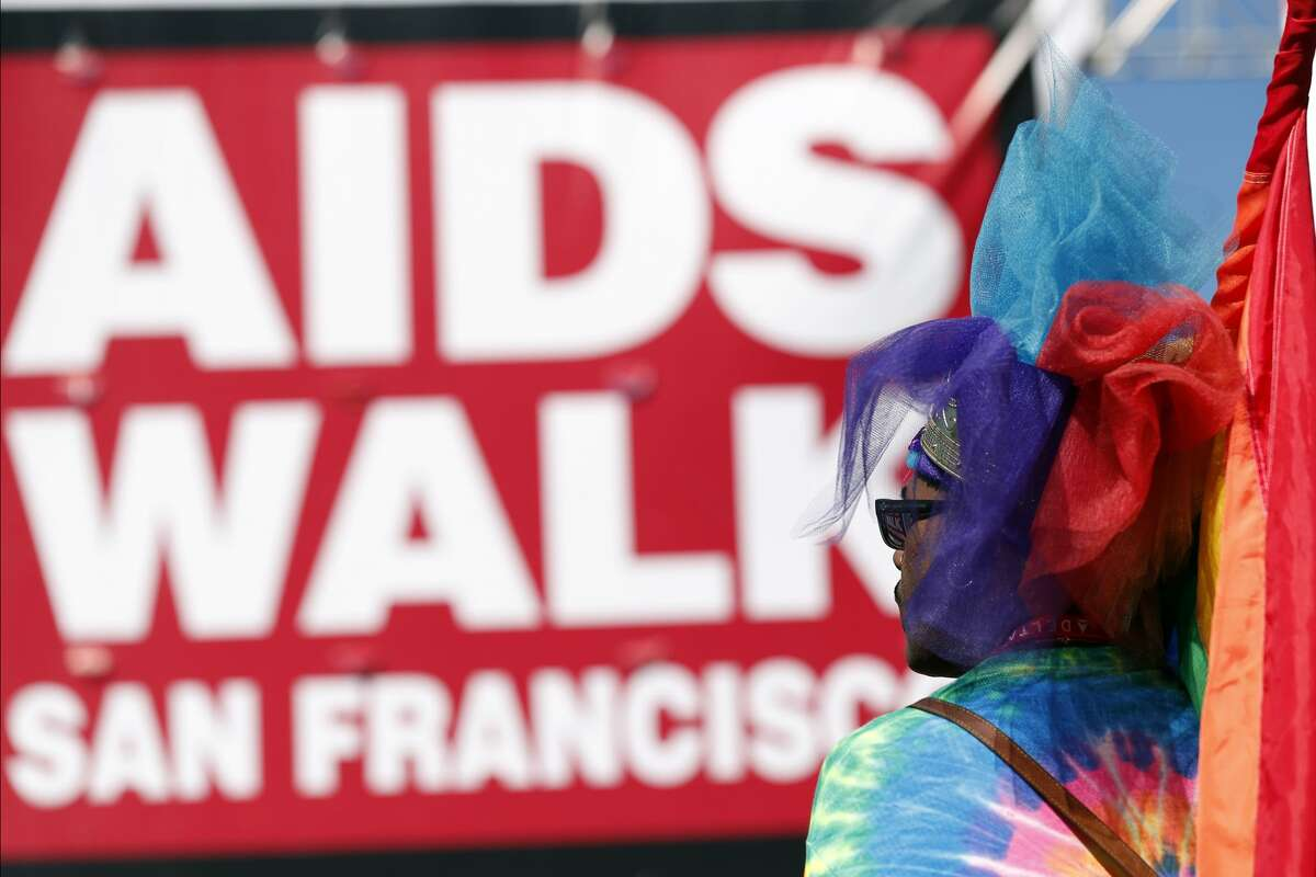 Troy Brunet watches during AIDS Walk San Francisco opening ceremony in Golden Gate Park in San Francisco, Calif. on Sunday, July 16, 2017.