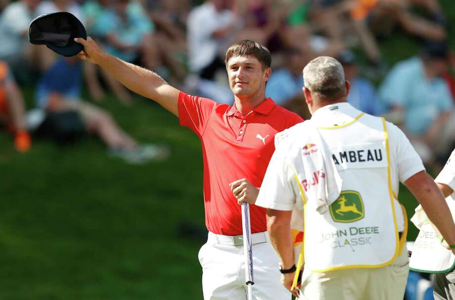 Hats off to Bryson DeChambeau, who earned his first PGA Tour win at the John Deere Classic in Silvis, Ill. Photo: Charlie Neibergall, STF / Copyright 2017 The Associated Press. All rights reserved.